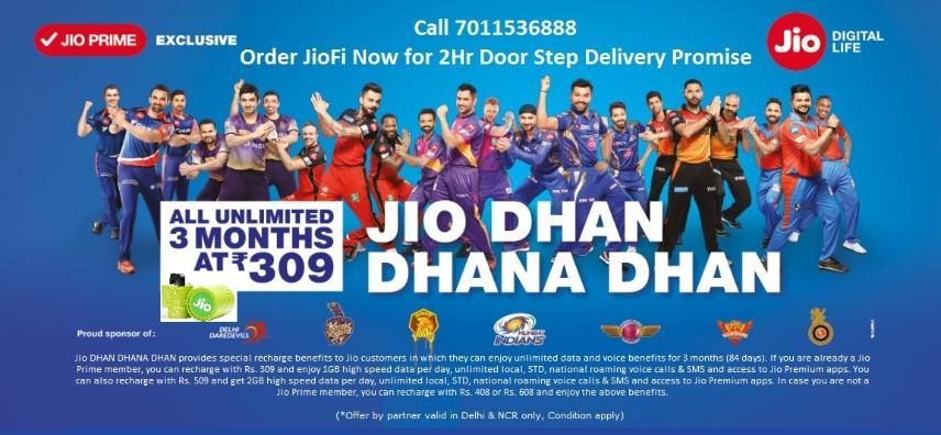 Reliance Jio 4G | JioFi | Rs.1999 | Call 7011536668 ...