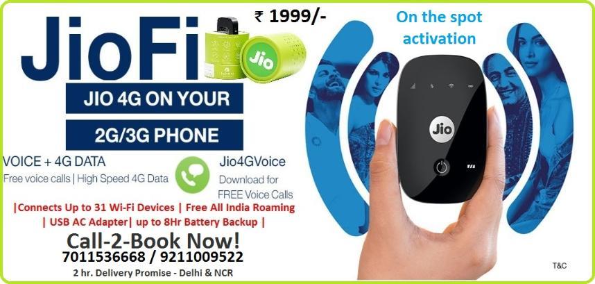 Reliance Jio 4G | JioFi | Rs 999 | Call 7011536668 | Delhi